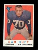 1959 TOPPS #51 SAM HUFF VGEX (RC) NY GIANTS HOF *SBA4768
