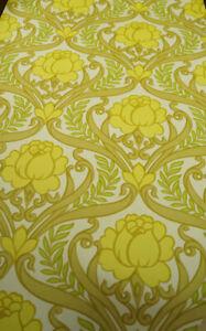 70er Vintage Wallpaper Retro Wallpaper Lounge Cherry Flower Wallpaper 60er 1/4 6