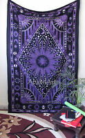Twin Psychedelic Tapestry Sun moon Mandala Throw Wall Hanging Gypsy Bedspread-UK