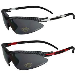 2er Pack X-CRUZE® XC011 Locs Radbrille Sonnenbrille Brille Männer Frauen schwarz