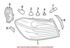 For BMW Genuine Tail Light Socket Rear Right 63217366066