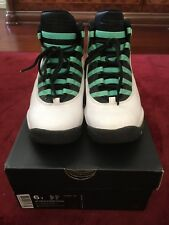 Air Jordan 10 Retro 30th GG White/ Verde-Black-Infrared 23 US 6Y UK 5.5 EUR 38.5