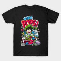Deku Pops My Hero Academia Anime Black T-shirt All Might Izuku Midoriya S-6XL