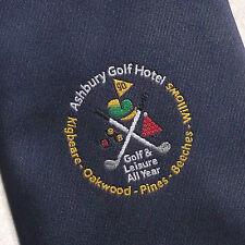Vintage Golf Tie Mens Necktie Retro Sport Golfing Club Ashbury