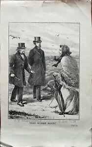 Butterworth & Heath That Woman Again Antique Engraving Print 1800's