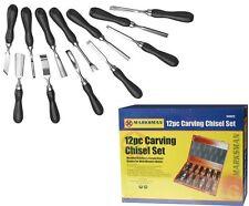 12pc Pro Wood Chisel Carving CRV Professional Carpenters Tool Set 12 Piece 067