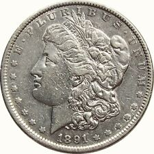 1891 $1 Morgan Silver Dollar XF details cleaned and some bag marks