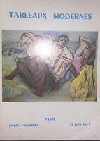 1964 Catálogo De Venta Ilustrado Palacio Galliera - De París Pizarras Moderno