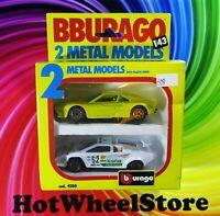 BBURAGO  MINT in Box 1/43  FERRARI GTO & LAMBORGHINI COUNTACH 5000 S   O3-100920