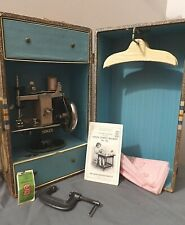Rare Antique Singer 20 Toy Cast Iron In Promo Doll Travel Trunk Sewing Machine