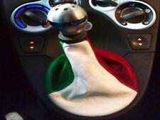 fiat panda headphone gear lever genuine leather tricolor