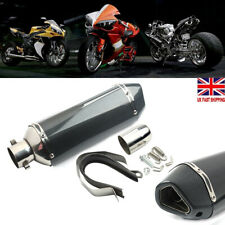 Motorcycle 38-51mm Carbon Fiber Exhaust Muffler Silencer Pipe Slip-On Universal