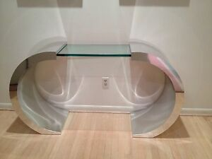 Waterfall Console Table in style of Paul Evans Milo Baughman Pace Karl Springer