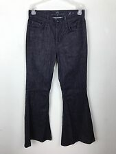 Seven 7 For All Mankind Bell Bottom Jeans Size 24 Dark Wash Embroidered Pocket