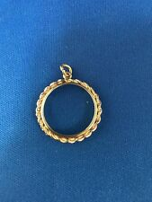 14k Gold Frame To Fit $5 US Gold Coin.Frame Only.#364