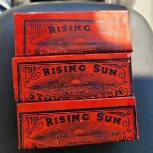 Rare 1800s The Rising Sun Stove Polish..3 Sticks...unused