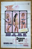 Deadlier Than The Male (1967) 1 Sheet Movie Poster 27x41 Elke Sommer Vintage