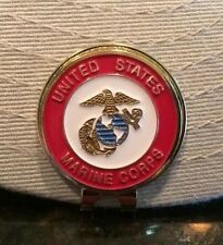 Usmc Us Marine Corp Hat Clip with removable Magnetic Golf Ball Marker