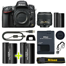 Nikon D610 Digital SLR Camera with 18-55mm NIKKOR VR Lens + Backup Power Kit