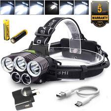 90000LM XM-LT6 Q5 CREE LED USB BRIGHT HEADLAMP HEAD LIGHT LAMP TORCH FLASHLIGHT