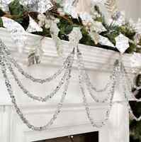 "Silver Gem 3-String Christmas Garland Ornament 19.5"" RAZ Imports 3602366 NEW"