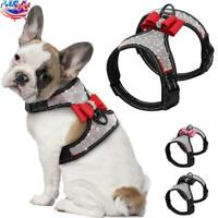 USA Puppy Bling Rhinestone Bowknot Chest Harness Pets Dog Cat Strap Vest Harness