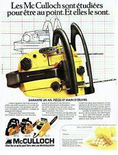 Publicité Advertising 037    les tronçonneuses  PM 320 MAC 110 12 McCulloch