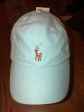 NWT! Polo Ralph Lauren Baby Pastel Blue Adjustable Baseball Cap Hat
