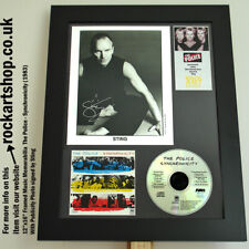 More details for the police signed sting synchronicity press photo autographed summers copeland