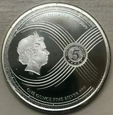 2019 Tokelau 5 Dollars .999 Silver Coin - Now and Forever Chronos - Scarce!