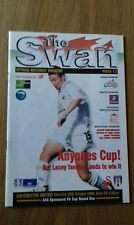 Swansea City V Colchester United 30Th October 1999 Fa Cup Round One