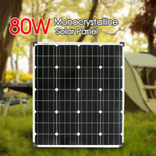 12V 80W Monocrystalline Solar Panel HOME GENERATOR CARAVAN CAMPING POWER BATTERY