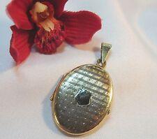 Medaillon Anhänger aus 835er Silber Kettenanhänger vergoldet / tt 048