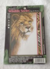 THE JANLYNN WILDLIFE SERIES COUNTED CROSS STITCH KIT - LION
