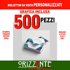 STAMPA BIGLIETTI DA VISITA FRONTE RETRO 350 gr - A COLORI