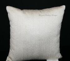 "Hudson Park Nouveau 16x16"" Decorative Throw Pillow Ivory Gold Metallic Threads"