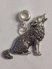 Wolf con 5mm agujero para caber Colgante pulsera con dijes Europea REFC 18