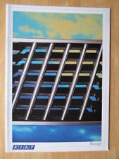 FIAT Range orig 1987 UK Mkt sales brochure - X1/9 Regata 126 Strada Uno Panda