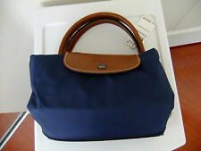 "Longchamp Le Pliage Expandable Travel Bag 21"" Duffle in Navy NWT"