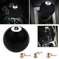 1 Set #8 Billiard Ball Round Car Manual Gear Shift Knob Shifter Lever Cover New