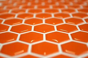 Design your own 3D Orange Gel Tank Pad, 70 Hexagon set, Dimensions 27mm x 27mm