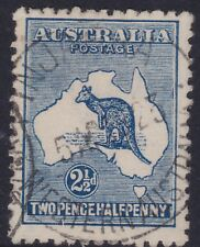 1917 Australia 2 1/2d Blue Roo / Kangaroo 3rd WMK PINJARRAH (PINJARRA) WA CDS