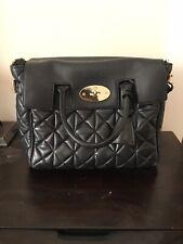 Authentic Mulberry Cara Delevigne Quilted Black Backpack/ Shoulder Bag/ Handbag