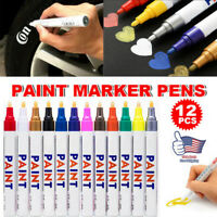 12 Colors Paint Marker Pens Waterproof Permanent Mark Car Tire Tyre Tread Rubber
