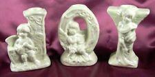 Christmas JOY Porcelain Candlesticks w/Angels
