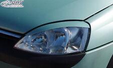 RDX Scheinwerferblenden OPEL Corsa C / Combo Böser Blick Blenden Spoiler Tuning