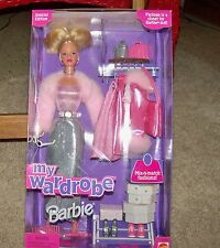 My Wardrobe Barbie:  Doll w/ Mix-n-match fashions & accessories #22962 1999 NRFB