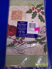 Holiday Tidings Cardinal Noel Winter Christmas Party Decoration Paper Tablecover