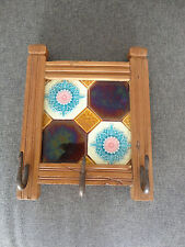 OLD DECORATIVE TILE WALL HOOKS