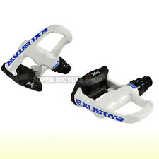 EXUSTAR Aluminum Body Road Pedals E-PR1WH ,Come With Cleat Sets , White